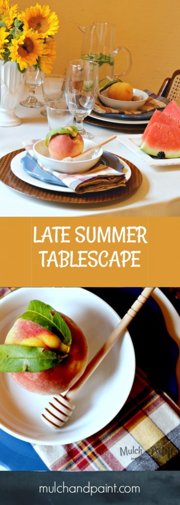 Late Summer Tablescape, Watermelons, Sunflowers, Cake
