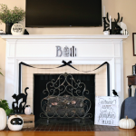Black and White Mantle Decor with Boo Tutorial