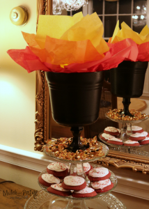 Olympic Cauldron, Olympic Party Decorations, Olympic Crafts, Dollar Tree Materials for Olympics