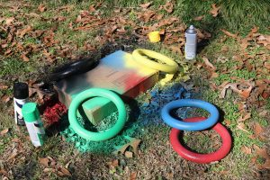 DIY Olympic Rings, Olympic Party Rings, Dollar Tree Wreaths for Olympic Rings