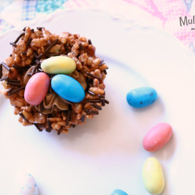 Easter Rice Krispies Treat Bird Nests