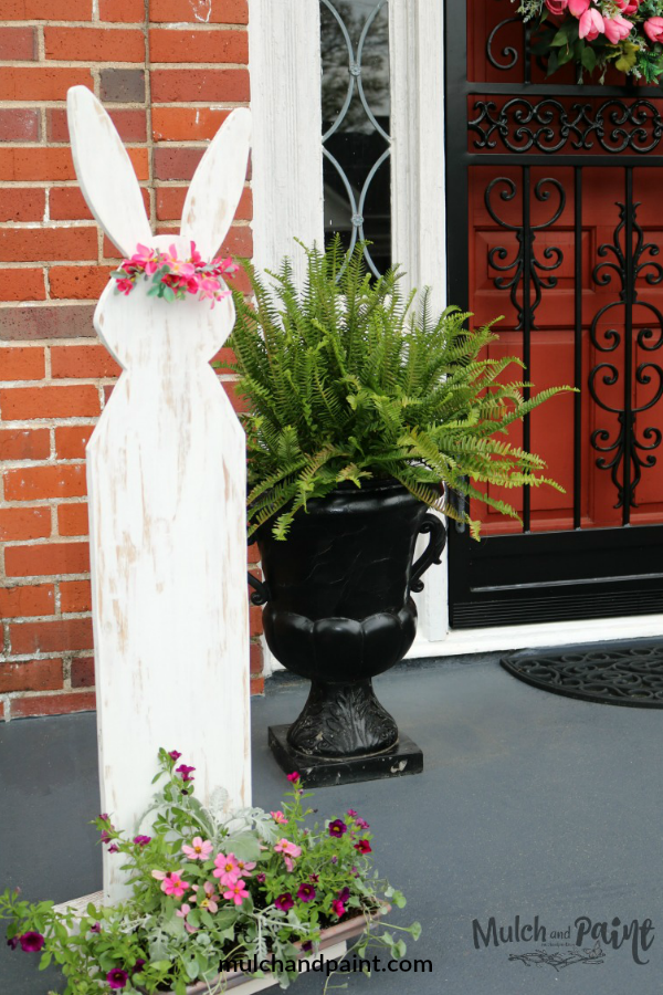 Wooden Easter Rabbit for Front Porch