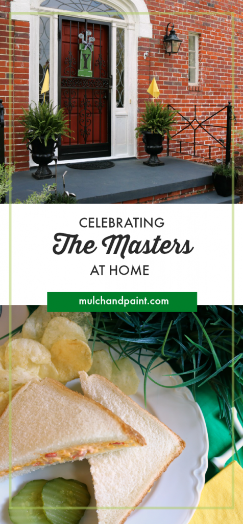 Celebrating The Masters at Home with food and decor