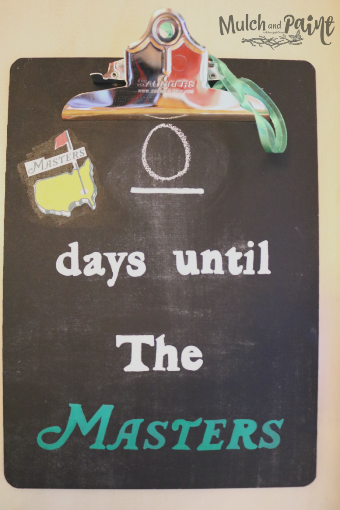 Countdown to The Masters clipboard