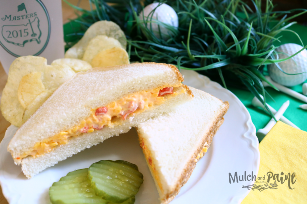 Honoring The Masters pimiento cheese sandwich