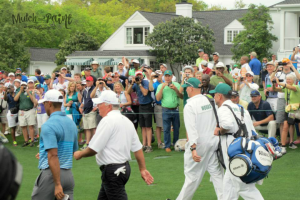 Tiger Woods at The Masters 2015