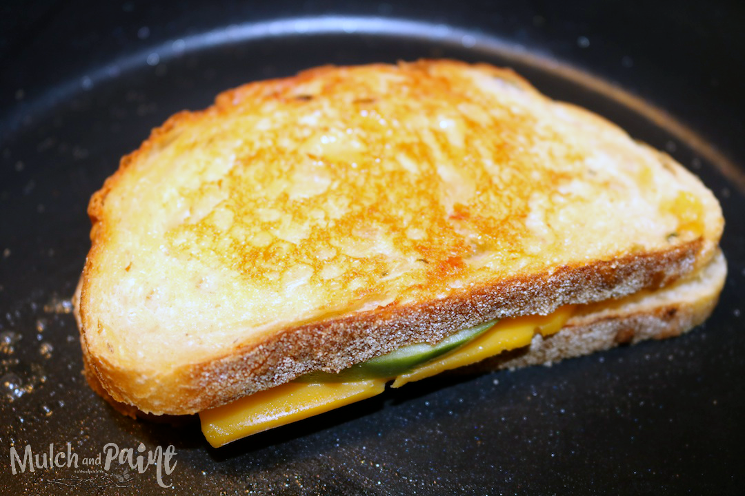 Hot Pepper Jelly and Apple Sandwich with Cheddar Cheese, Grilled Cheese and Apple Sandwich with Hot Pepper Jelly