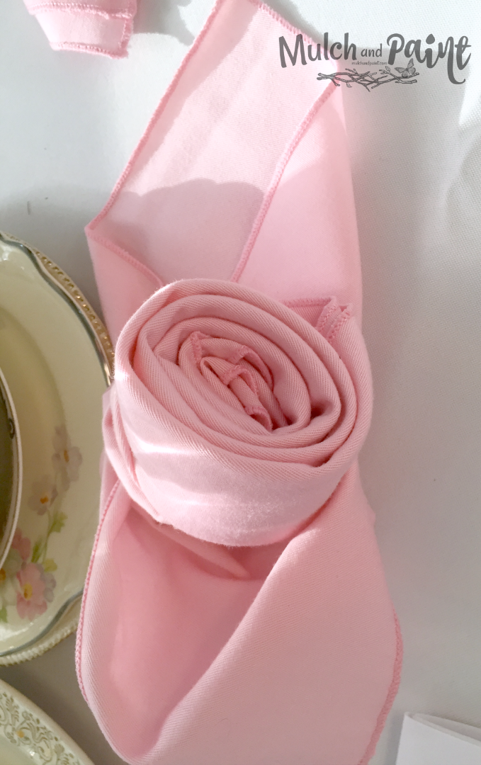 Birthday Tea Rose Napkins
