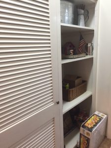 Laundry Room Closet before makeover