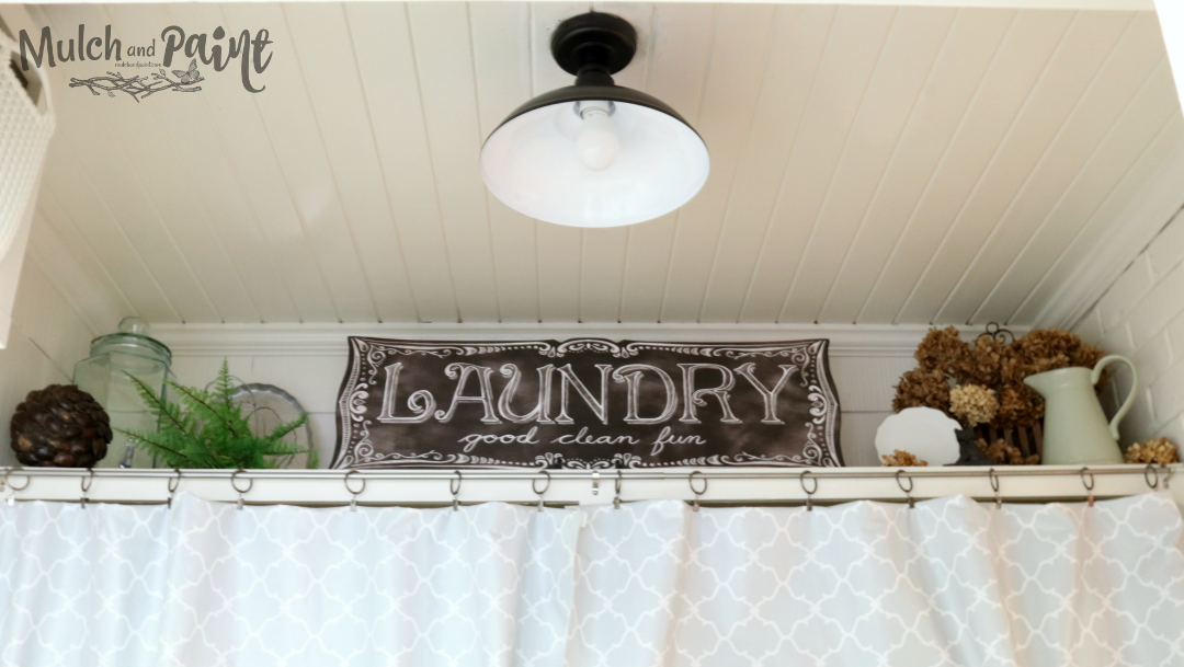 Laundry Room shelf with light from Walmart
