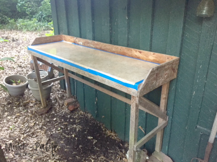 Potting Bench Before Makeover