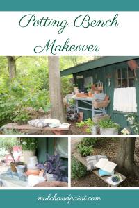 Potting Bench Makeover, Potting Bench Refresh, Potting Bench Decor