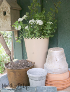 Potting Shed with soil for planting, Potting Bench, Potting Bench Refresh