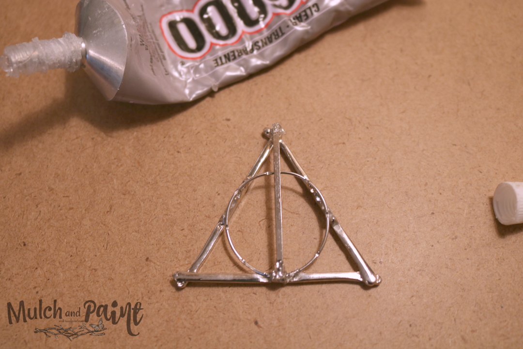 Deathly Hallows Christmas Ornament Glue with E6000 Harry Potter, Hobby Lobby