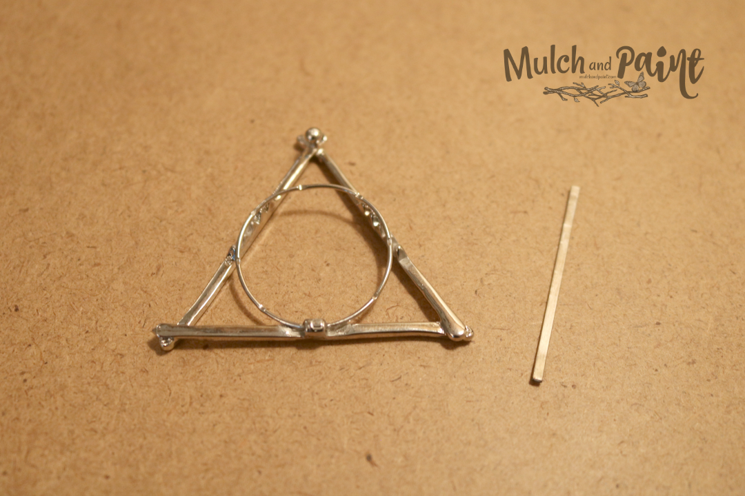 Harry Potter Deathly Hallows Ornament Glue Ring to Triangle Harry Potter, Hobby Lobby