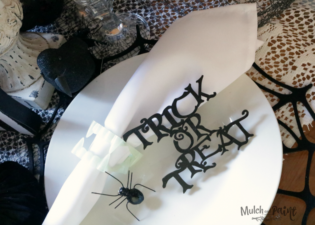 Halloween tablescape place setting