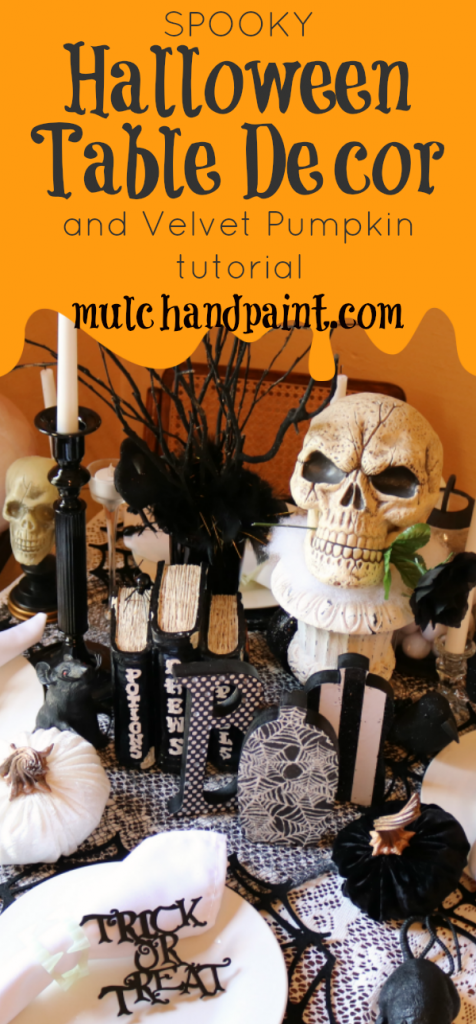 Spooky Halloween Table Decor from mulchandpaint.com