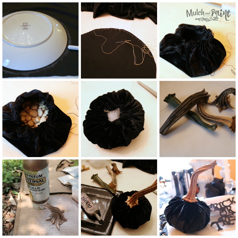 Velvet pumpkin tutorial step by step instructions