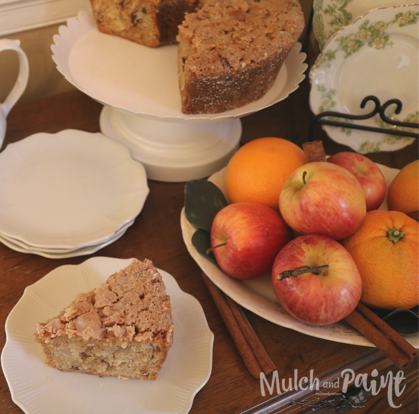 Apple Cake recipe with buttermilk sauce