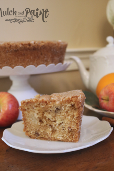 Apple Cake recipe with yummy buttermilk sauce, Apple Cake