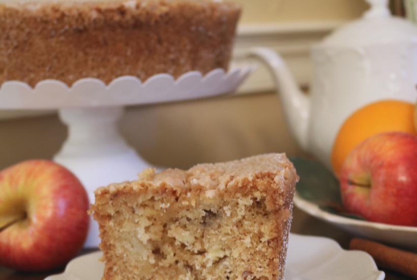 Apple Cake recipe with yummy buttermilk sauce, Apple Cake