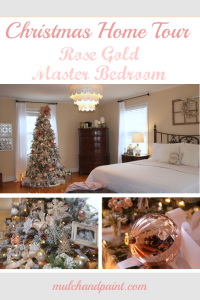 Christmas Home Tour 2018 Master Bedroom in Rose Gold