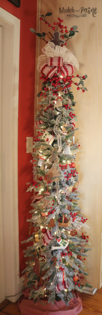 Gingerbread themed tree my Christmas home tour