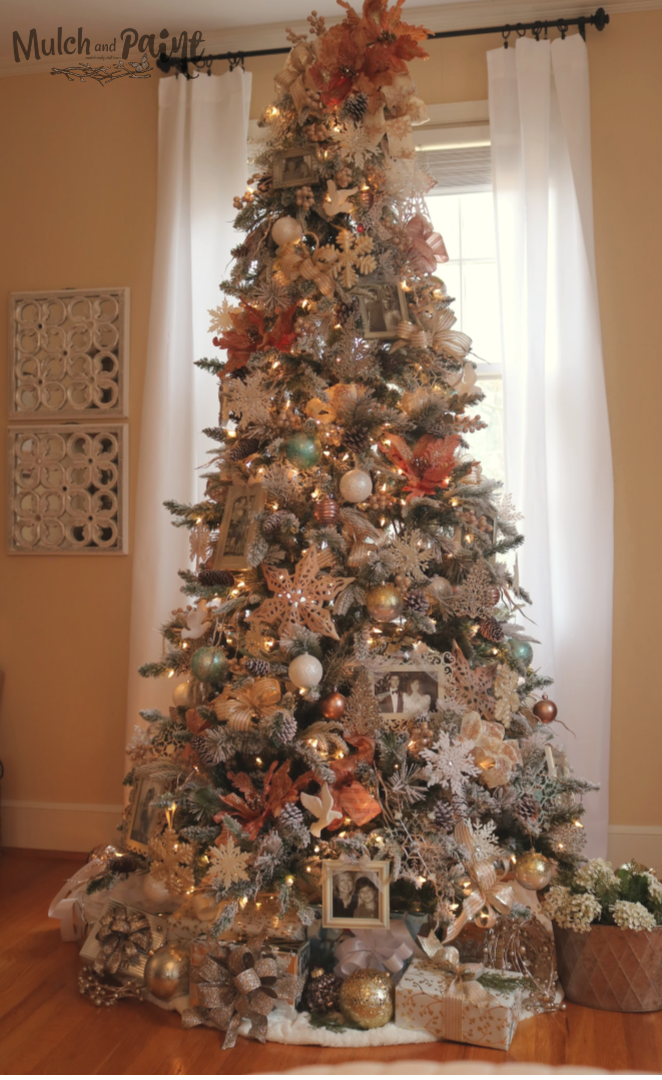 Rose Gold Christmas Tree In My Bedroom Mulch Paint