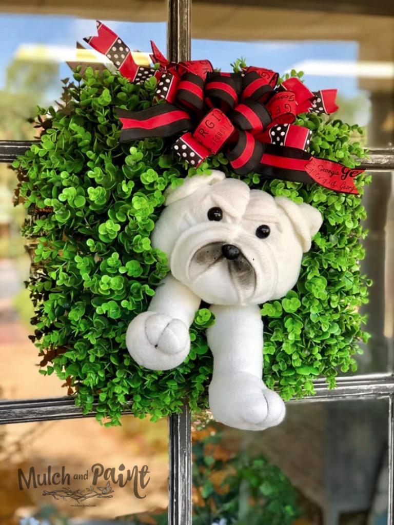 Georgia Bulldog Wreath