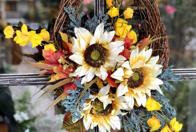 Sunflower Wreath for Fall