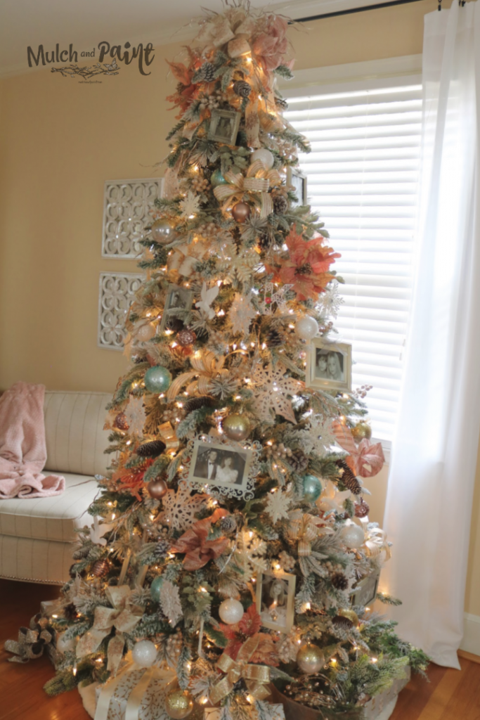 Rose Gold Christmas Tree Mulch Paint
