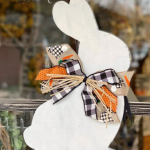 Wooden Easter Bunny Wall Hanger