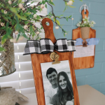 Faux Wood Cutting Board Picture Hanger