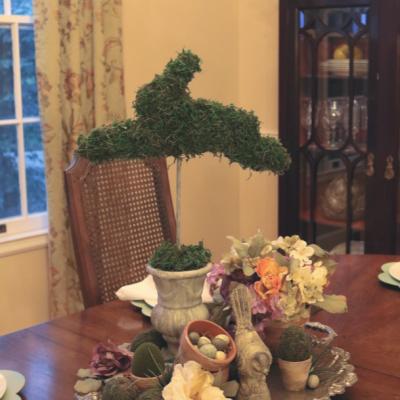 Moss Bunny Topiary