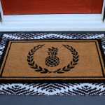 Layered Welcome Mats for Summer