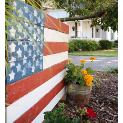 Wood Pallet American Flag