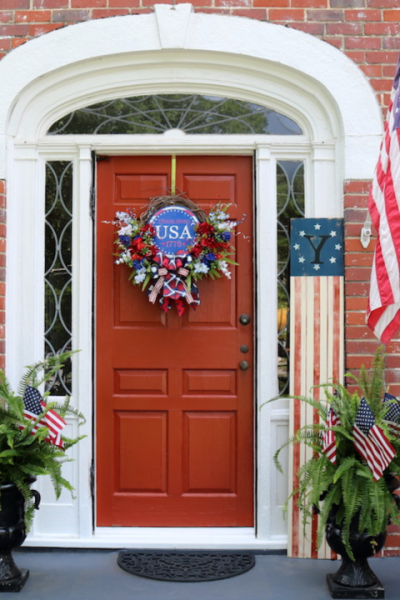 Patriotic Front Door Decor