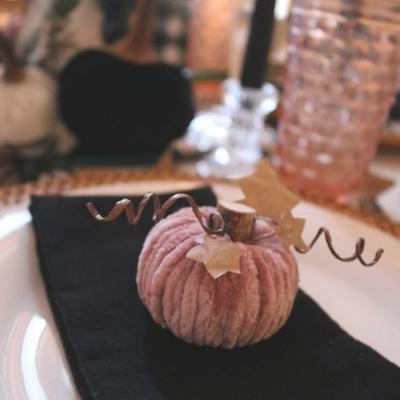 Velvet Yarn Pumpkins