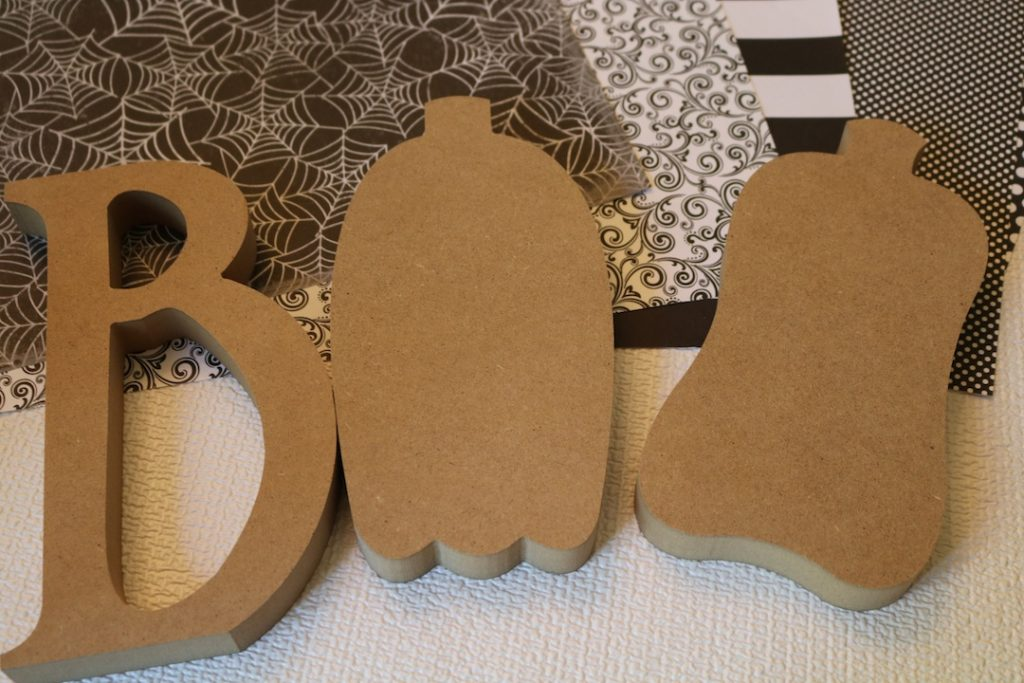 Boo letters from Hobby Lobby