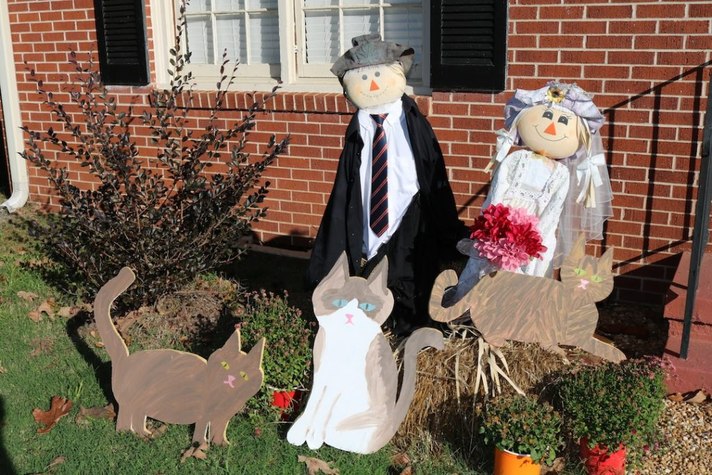 Bride and Groom Scarecrows