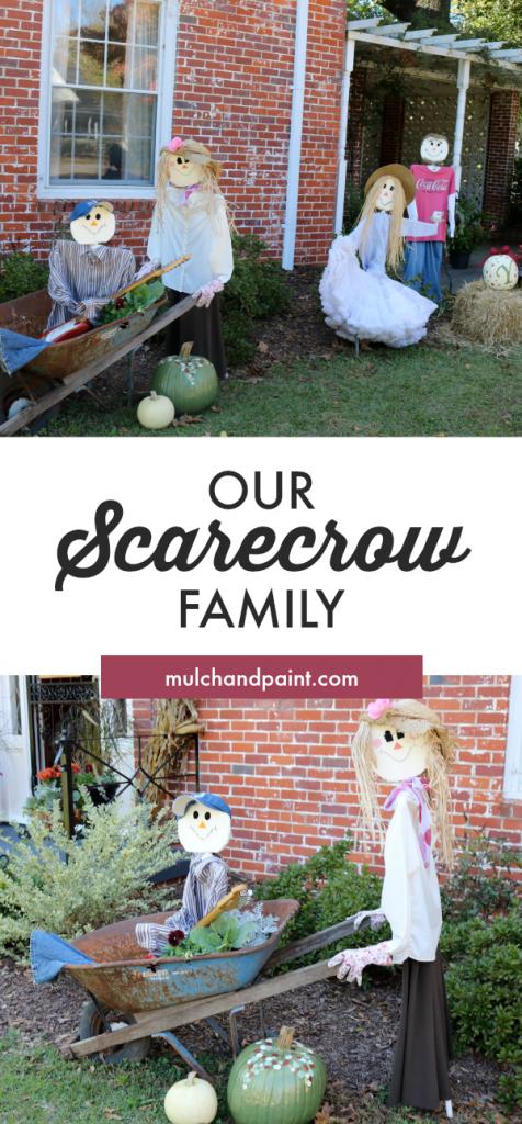 Scarecrow Family, Scarecrows, Fall Decorating