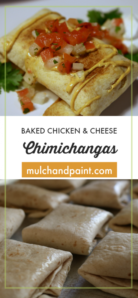 Baked Chicken Chimichangas-easy chimichangas-baked chimichangas