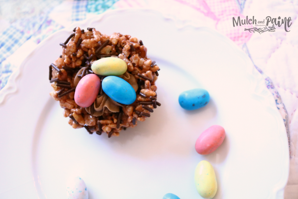 Easter Rice Krispies Bird Nests with Robins Eggs