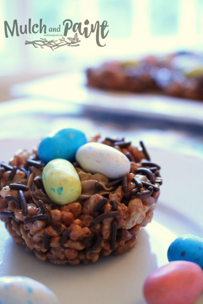 Easter Birds Nest with Rice Krispies Treats