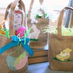 Easter Burlap Bags