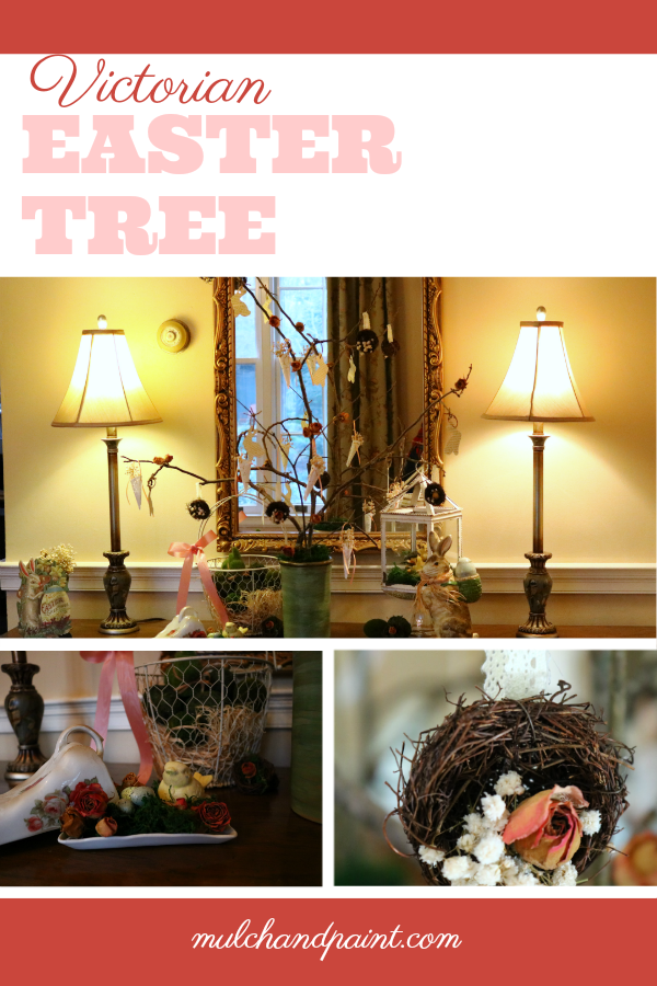 Victorian Easter Tree, Easter Tree, Spring Tree, Victorian decorations, tussie mussies