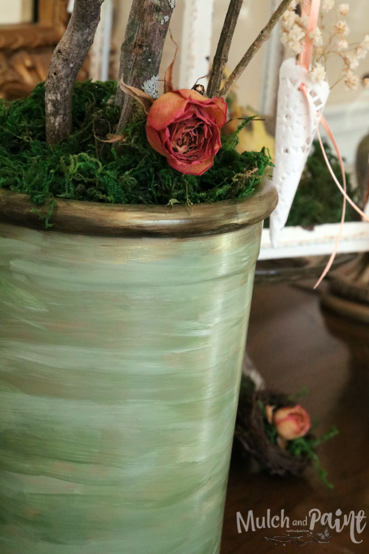 Victorian Easter Tree, Easter Tree, Spring Tree, Dried roses