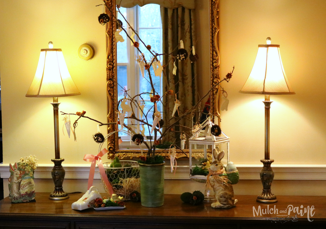 Victorian Easter Tree, Easter Tree, Spring, bird nests