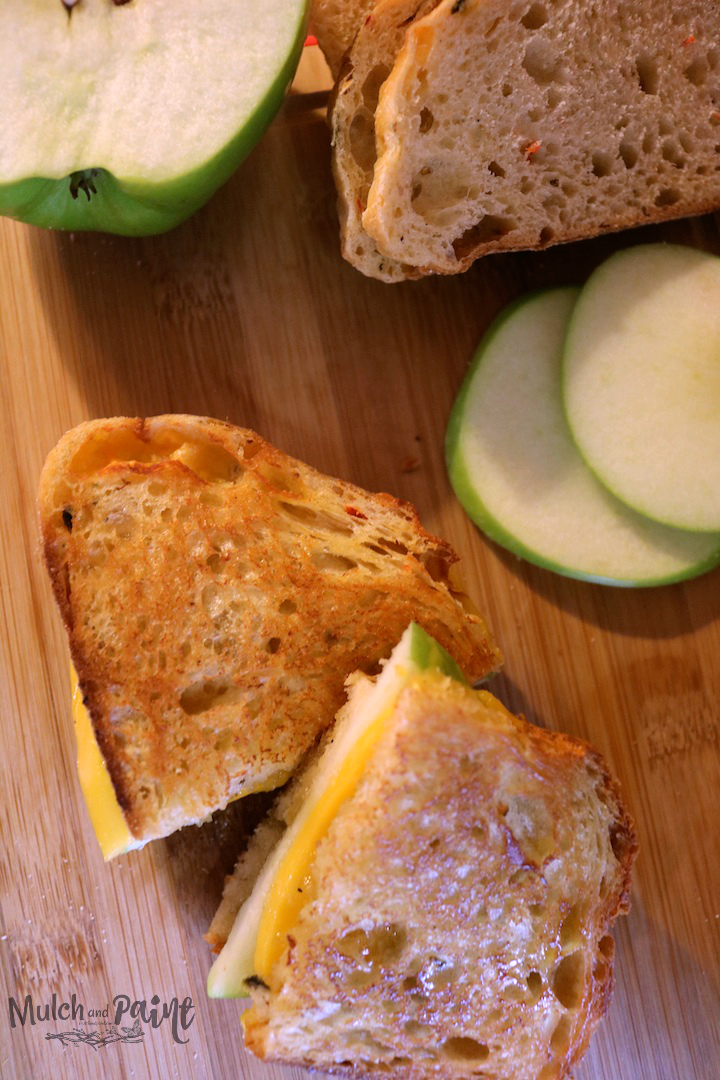 Hot Pepper Jelly and Apple Sandwich, Grilled Apple Sandwich, Hot Pepper Jelly, Cheddar Cheese