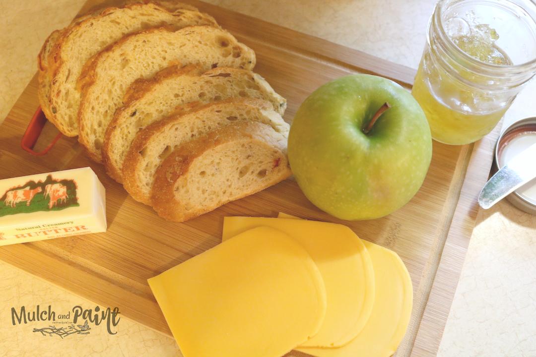 Apple Cheddar Sandwich Ingredients, Hot Pepper Jelly and Apple Sandwich Recipe